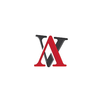 Modelo de logotipo de carta av