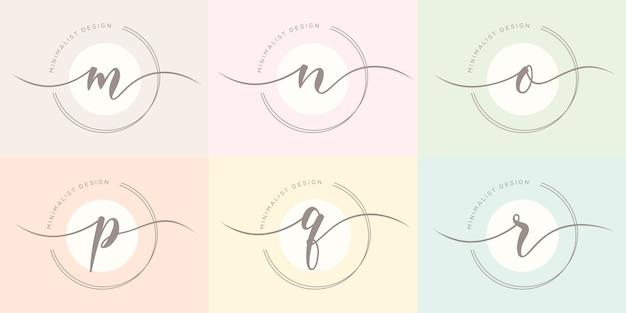 Modelo de logotipo de carta feminime