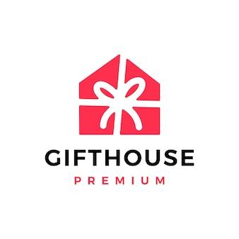Modelo de logotipo de casa de presentes