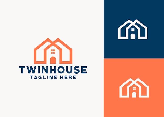 Modelo de logotipo de casa imobiliária