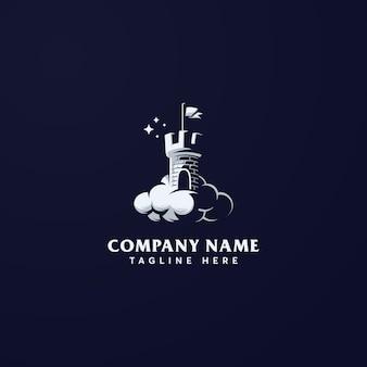 Modelo de logotipo de castelo dos sonhos