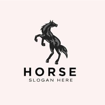Modelo de logotipo de cavalo incrível