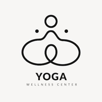 Modelo de logotipo de centro de bem-estar de ioga, vetor de design moderno criativo