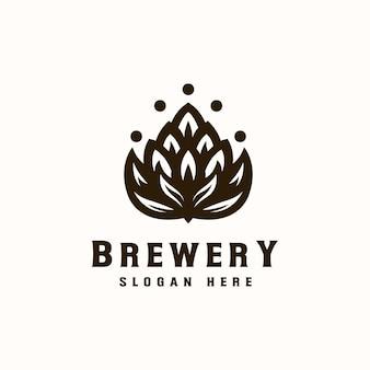 Modelo de logotipo de cervejaria.