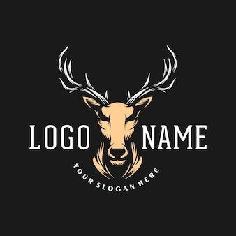 Modelo de logotipo de cervo