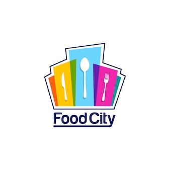 Modelo de logotipo de cidade de comida