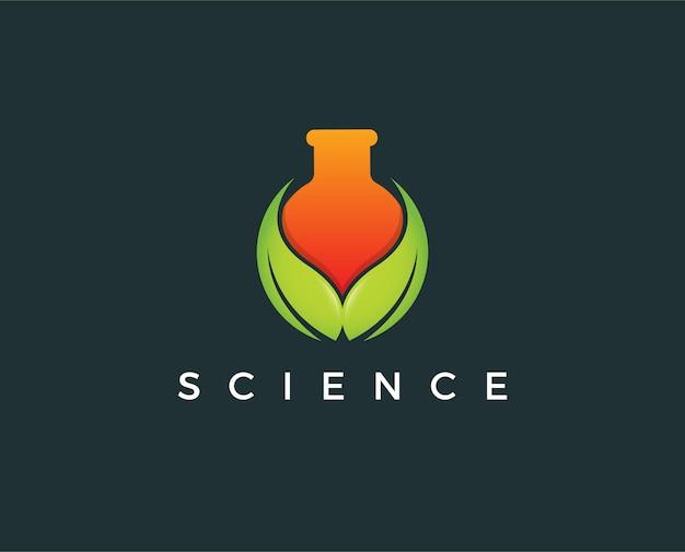 Modelo de logotipo de ciência mínima