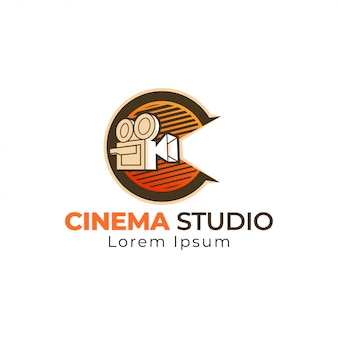 Modelo de logotipo de cinema