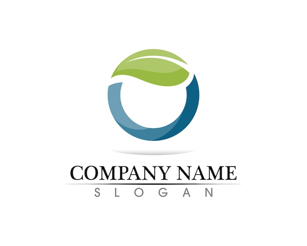Modelo de logotipo de círculo de tecnologia
