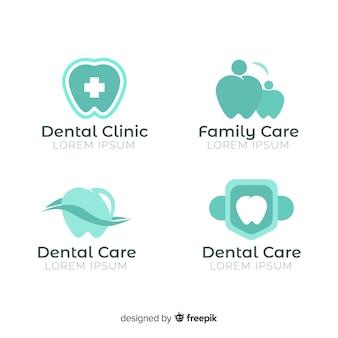Modelo de logotipo de clínica dentária