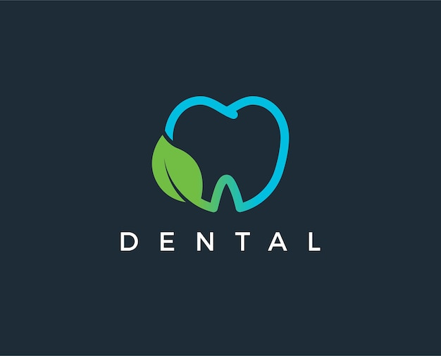 Modelo de logotipo de clínica odontológica Vetor Premium