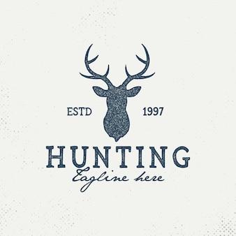 Modelo de logotipo de clube de caça