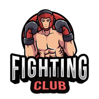 Modelo de logotipo de clube de luta