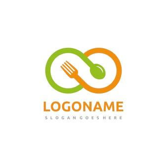Modelo de logotipo de comida de infinito