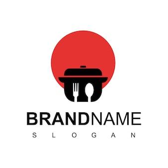 Modelo de logotipo de comida japonesa