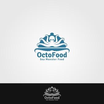 Modelo de logotipo de comida octo