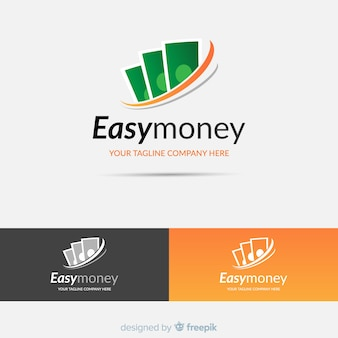 Modelo de logotipo de conceito de dinheiro