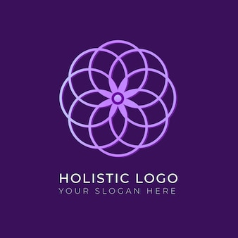 Modelo de logotipo de conceito holístico