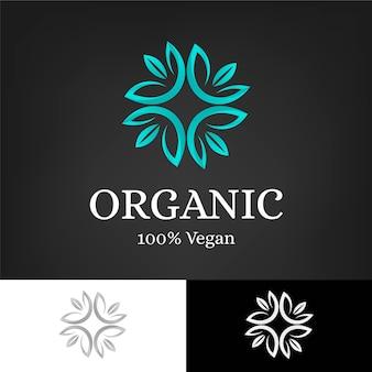Modelo de logotipo de conceito orgânico holístico