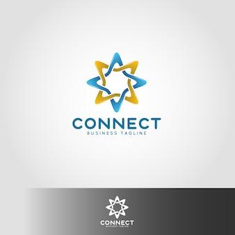 Modelo de logotipo de conexão