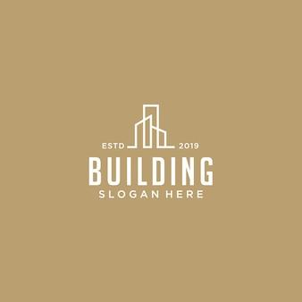 Modelo de logotipo de construção