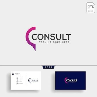 Modelo de logotipo de consulta de negócios