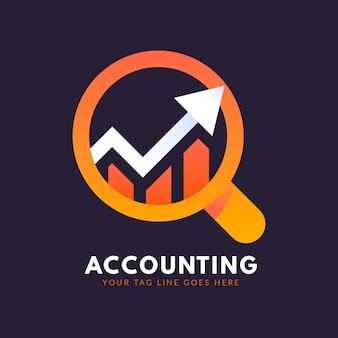 Modelo de logotipo de contabilidade de gradiente