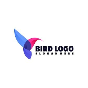 Modelo de logotipo de cor de pássaro