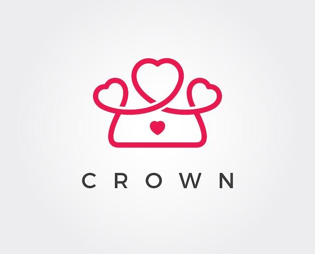 Modelo de logotipo de coroa mínima