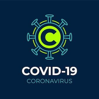 Modelo de logotipo de coronavírus