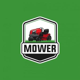 Modelo de logotipo de cortador de grama
