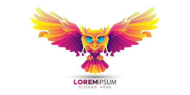 Modelo de logotipo de coruja