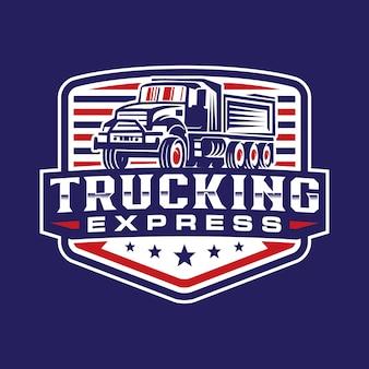Modelo de logotipo de crachá de caminhão
