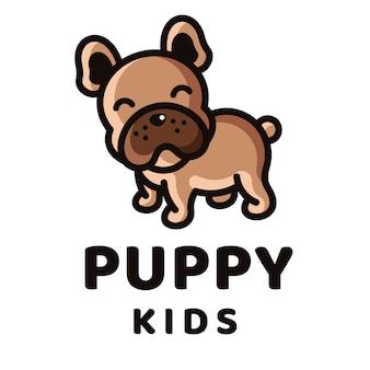 Modelo de logotipo de crianças filhote de cachorro