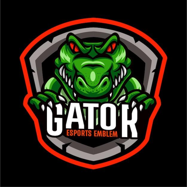 Modelo de logotipo de crocodilo jacaré