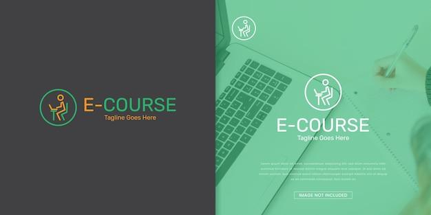 Modelo de logotipo de curso online