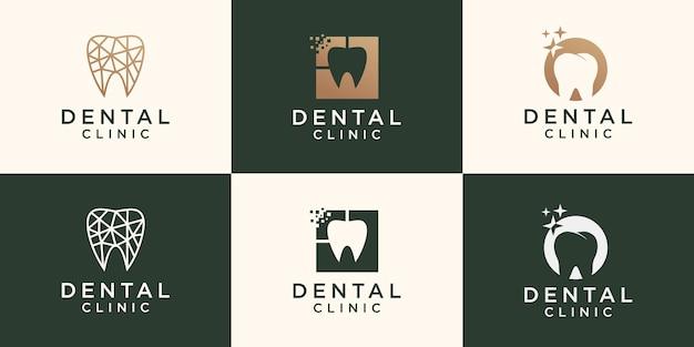 Modelo de logotipo de dentista