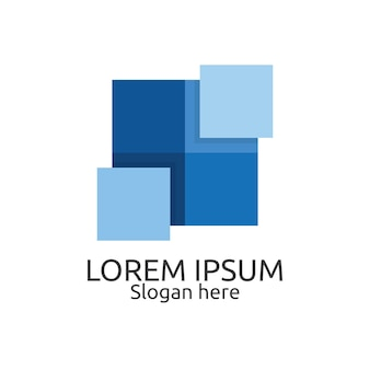 Modelo de logotipo de design abstrato para propriedades interiores e exteriores. conceito de símbolo de identidade para imóveis, empresas, empresas de construção e empresas