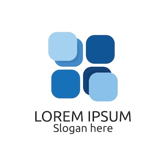 Modelo de logotipo de design de azulejos de rodada redonda de borda redonda para propriedades interiores e exteriores. conceito de símbolo de identidade para imóveis, empresas, empresas de construção e empresas