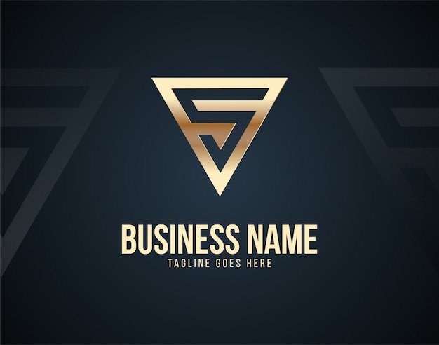 Modelo de logotipo de design de carta abstrata s de luxo com efeitos de cor de ouro