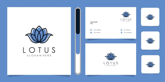 Modelo de logotipo de design de flores de lótus