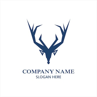 Modelo de logotipo de design de logotipo de veado