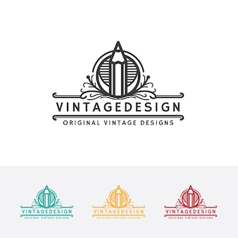 Modelo de logotipo de design vintage