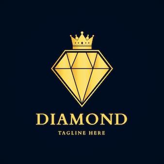 Modelo de logotipo de diamante elegante