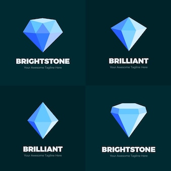 Modelo de logotipo de diamante