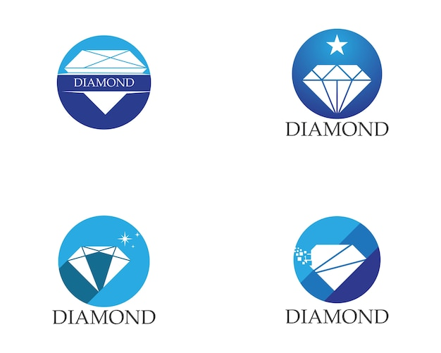 Modelo de logotipo de diamante
