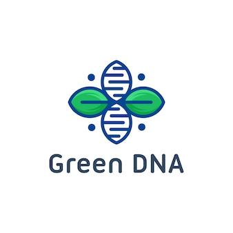 Modelo de logotipo de dna de natureza