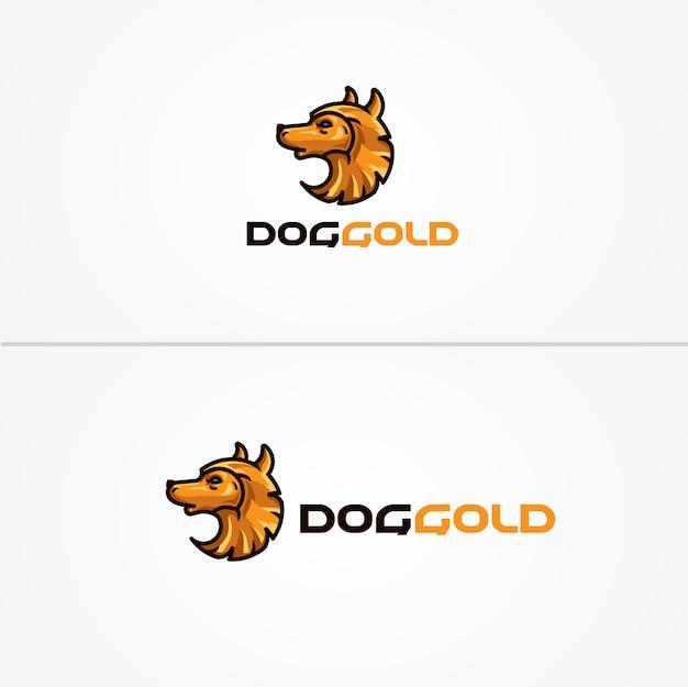 Modelo de logotipo de doggold