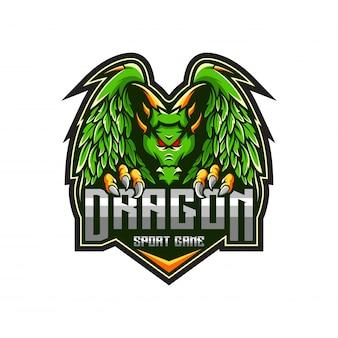 Modelo de logotipo de dragão