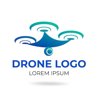 Modelo de logotipo de drone criativo